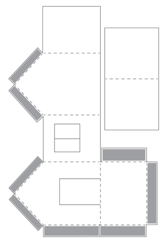 Cardboard model house templates