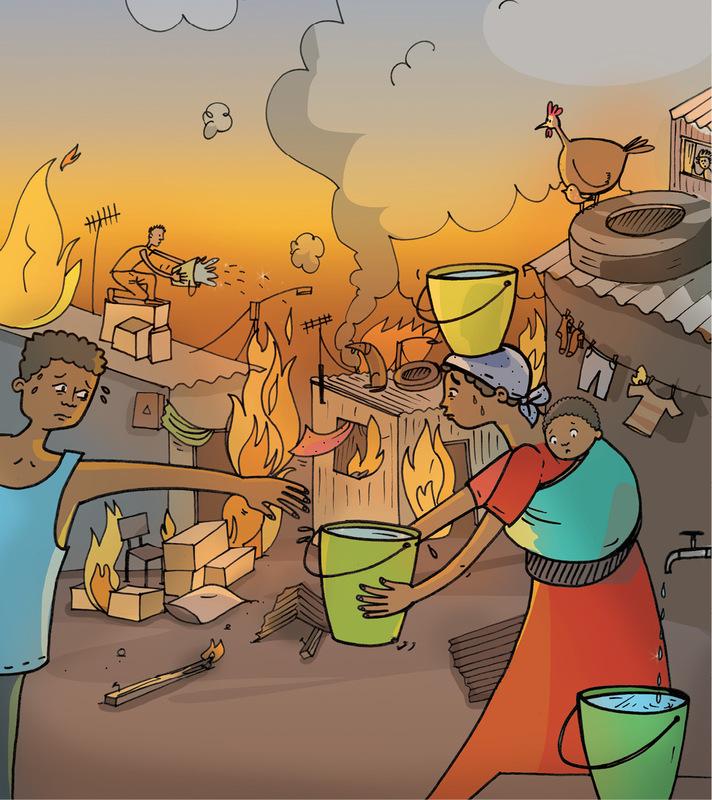 Figure 1 an informal settlement during a fire